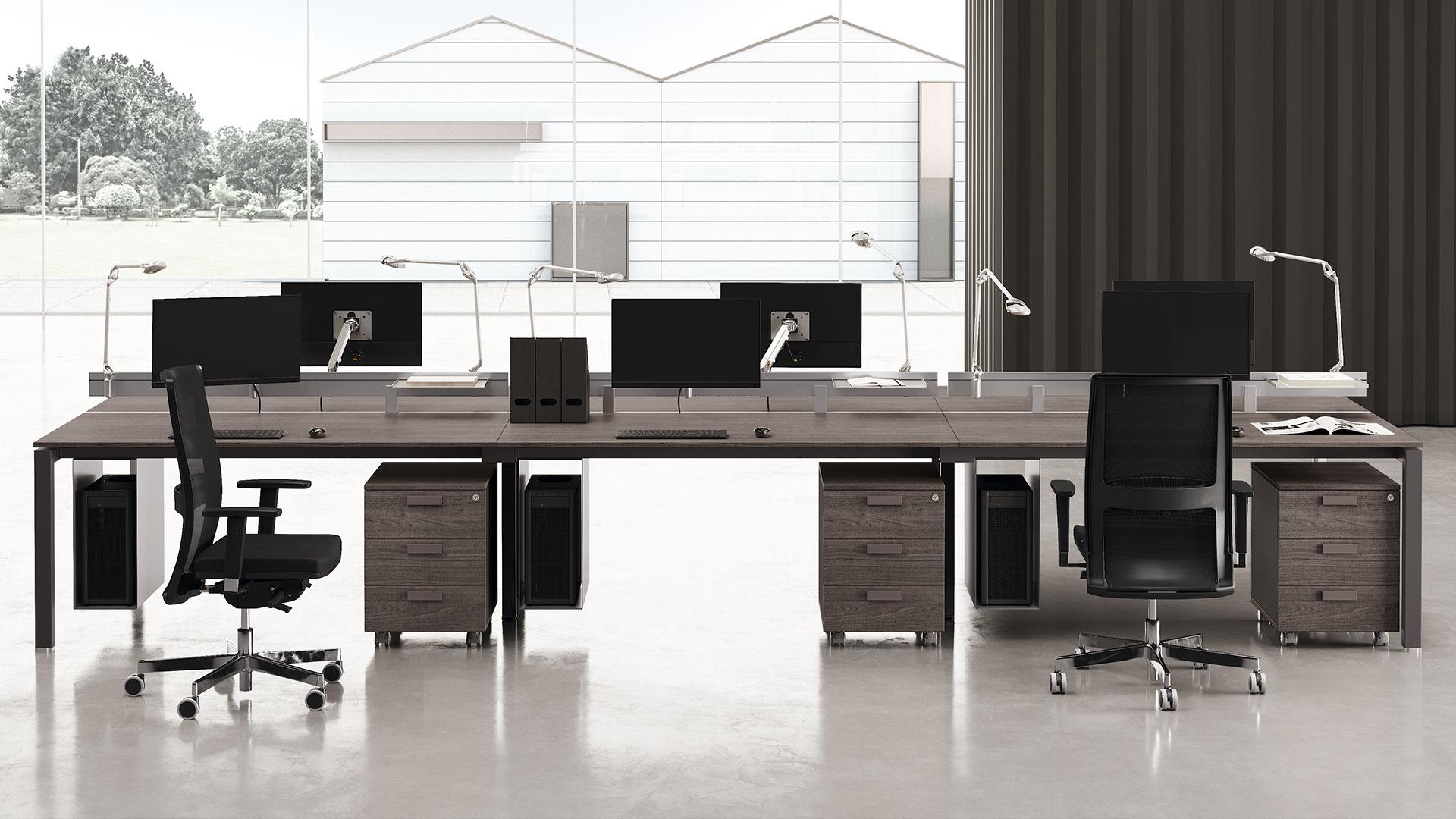 Офисные столы на бенч опорах 5th Element