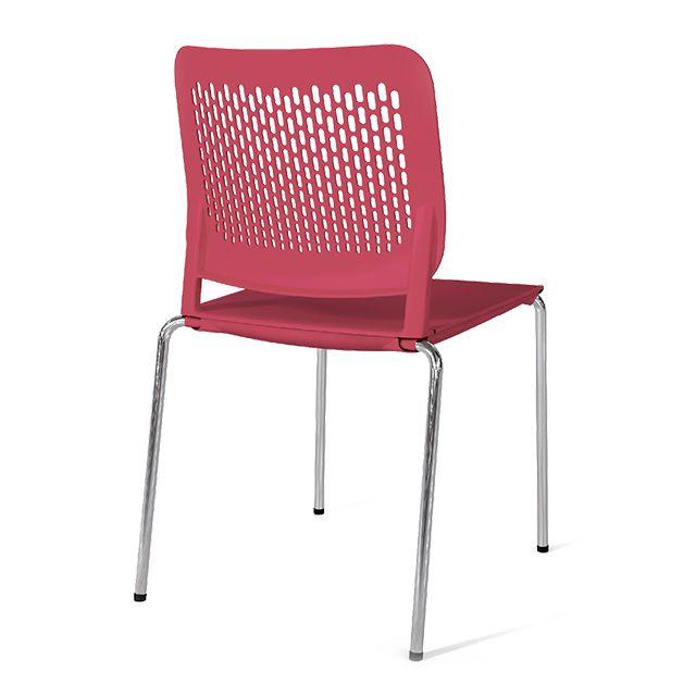 пластиковые стулья на металлокаркасе